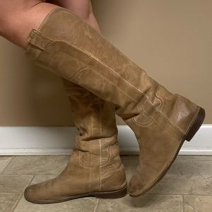 Frye tall brown boots